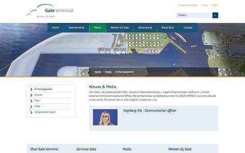 Screenshot of Press Page gate.nl - Contactgegevens | Gate - captured Jan. 26, 2016