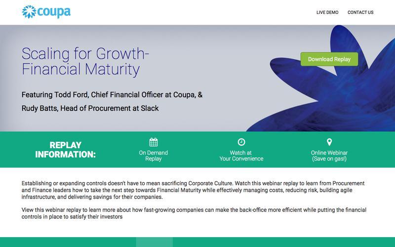Webinar On-Demand: Scaling for Growth-financial Maturity