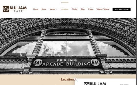 Screenshot of Locations Page blujamcafe.com - Locations - Blu Jam Café - captured Dec. 14, 2018