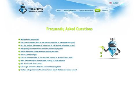 Screenshot of FAQ Page telemetron.net - Frequently Asked Questions | Telemetron - captured March 2, 2016