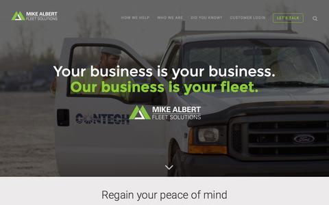 Screenshot of Home Page mikealbert.com - Home - Mike Albert Fleet Solutions | Mike Albert Fleet Solutions - captured Feb. 13, 2016