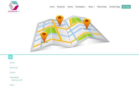 Screenshot of Site Map Page hexagonfm.co.uk - Hexagon FM Site Map - captured Oct. 2, 2014