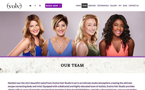 Screenshot of Team Page evolvesalon.ca - Our Team | Evolve Salon - Hair Studio Toronto - captured Feb. 1, 2016