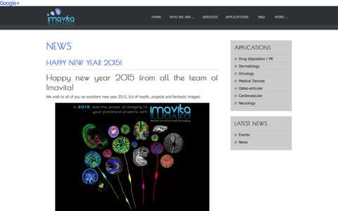 Screenshot of Press Page imavita.com - News Archives � Imavita - captured Jan. 8, 2016