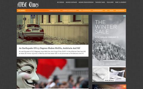 Screenshot of Press Page mbctimes.com - News, Breaking news, analysis and top stories — MBC Times - captured Jan. 27, 2016