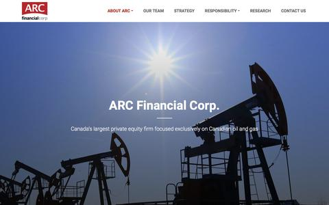 Screenshot of About Page arcfinancial.com - About Us | ARC Financial Corporation - captured July 7, 2018