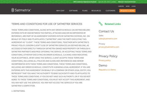 Terms and Conditions - Satmetrix