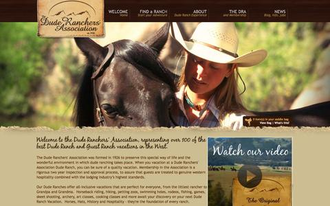 Screenshot of Home Page duderanch.org - Dude Ranches & Guest Ranch Vacations - Dude Ranchers' Association - captured Jan. 27, 2015