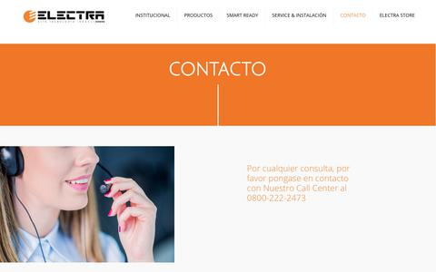 Screenshot of Contact Page electra.com.ar - Contacto – Electra - captured Sept. 27, 2018