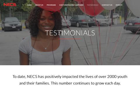 Screenshot of Testimonials Page necservices.org - Testimonials – Necservices - captured Oct. 24, 2017