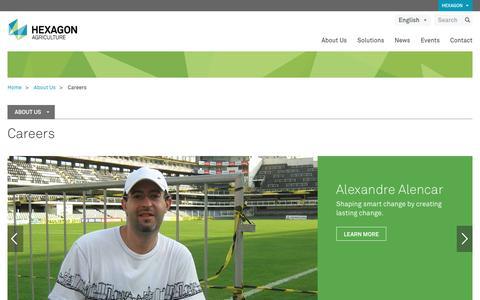Screenshot of Jobs Page hexagonagriculture.com - Careers | Hexagon - captured May 6, 2017