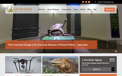 Screenshot of Home Page galapagos.org - Galapagos Conservancy - captured Sept. 23, 2014