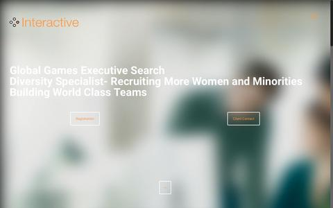 Screenshot of Home Page interactiveselection.com - Global Games Executive Search. Games Recruitment & Diversity - captured Sept. 19, 2018