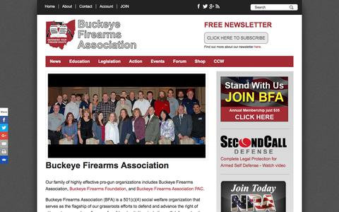 Screenshot of About Page buckeyefirearms.org - Buckeye Firearms Association | Buckeye Firearms Association - captured June 25, 2017