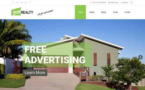 Screenshot of Home Page gottrealty.com - Gott Realty | North Brisbane Discount Real Estate Commission - captured Sept. 5, 2017