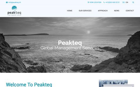 Screenshot of Home Page peakteq.ch - Home - peakteq - captured Sept. 27, 2018