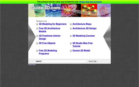 Screenshot of Home Page guide-3d.com captured Sept. 29, 2014