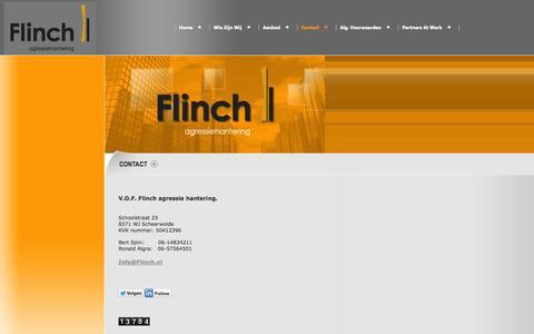 Screenshot of Contact Page flinch.nl - flinch.nl - Contact - captured Oct. 1, 2014