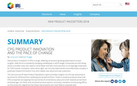 Screenshot of Blog iriworldwide.com - New Product Pacesetters 2018 - IRI - captured Jan. 6, 2020