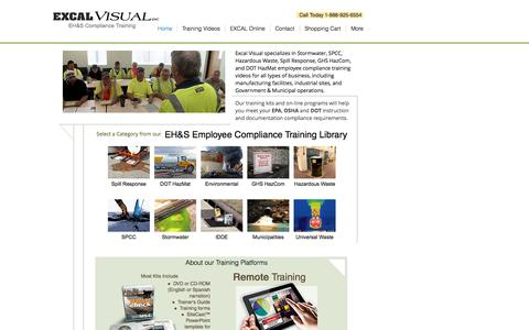 Screenshot of Home Page excalvisual.com - EH&S Training - Excal Visual - captured Nov. 11, 2016