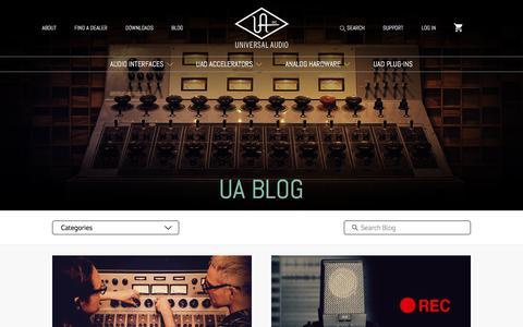Screenshot of Blog uaudio.com - Music Production Tips & Artist Interviews | Universal Audio - captured Nov. 1, 2017