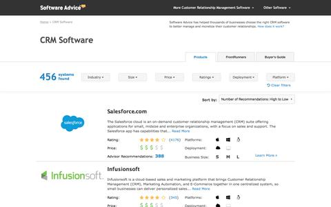 Best CRM Software - 2017 Reviews, Pricing & Demos