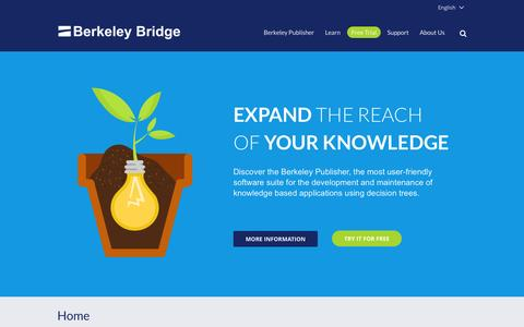 Screenshot of Home Page Privacy Page berkeleybridge.com - Berkeley Bridge -Berkeley Bridge - Expert in kennis systemen. - captured Sept. 30, 2014