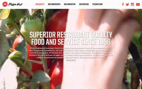 Screenshot of pizzahut.com - Pizza Hut Quality - captured July 23, 2017