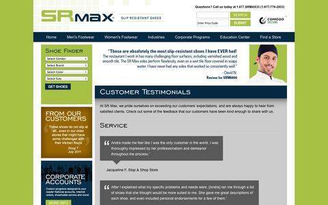 Screenshot of Testimonials Page srmax.com - Testimonials :: About Us - captured Oct. 3, 2014
