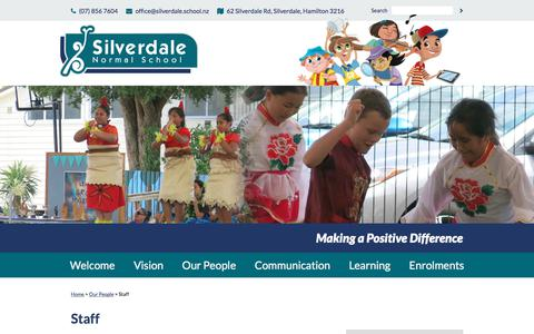 Screenshot of Team Page silverdale.school.nz - Staff - captured June 30, 2018