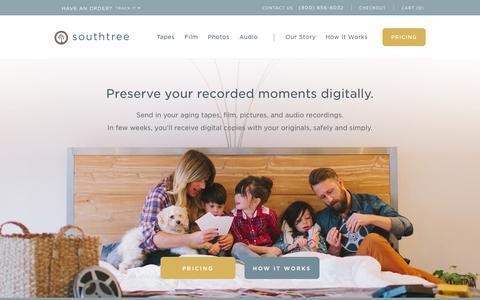 Screenshot of Home Page southtree.com - Southtree.com | Convert Home Movies to DVD - captured Oct. 7, 2015