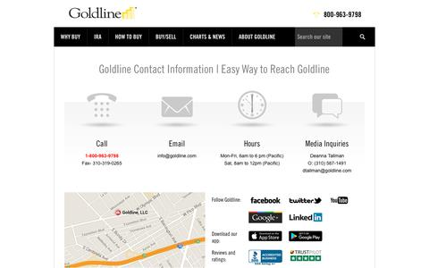 Contact Goldline | Goldline Customer Service
