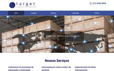 Screenshot of Home Page target-brasil.com - Target Comércio Internacional - captured Sept. 26, 2018
