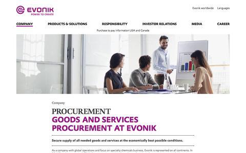 Procurement - Evonik Industries AG