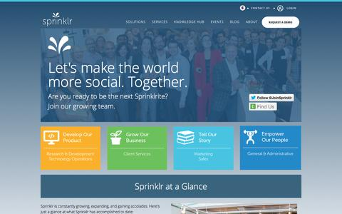 Careers at Sprinklr - Join the Team