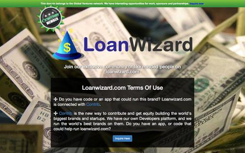 Screenshot of Developers Page loanwizard.com - Loanwizard.com - captured Dec. 12, 2015