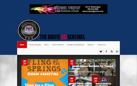 Screenshot of Home Page route60sentinel.com - Route 60 Sentinel | - captured Oct. 9, 2014