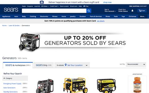 Generators | Power Generators - Sears
