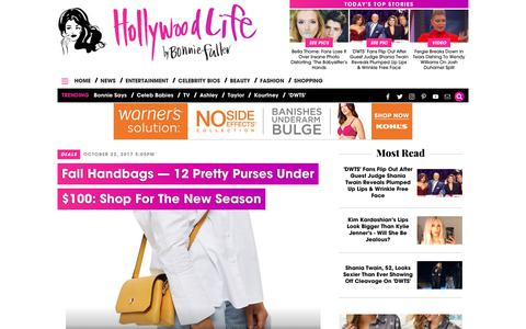 Screenshot of hollywoodlife.com - Fall Handbags — 12 Pretty Purses Under $100: Shop For The New Season – Hollywood Life - captured Oct. 24, 2017