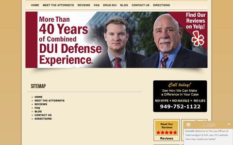 Screenshot of Site Map Page toddlandgren.com - » Sitemap - Orange County DUI Attorney   92612   Todd A. Landgren, Attorney at Law   California - captured Dec. 26, 2017