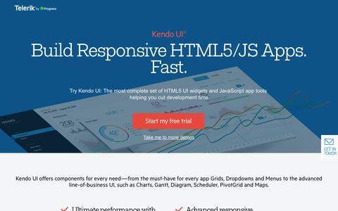 Screenshot of FAQ Page telerik.com - Kendo UI - The most comprehensive HTML5/JavaScript framework - captured Nov. 14, 2016