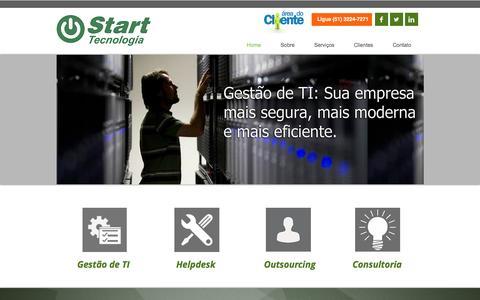 Screenshot of Home Page starttecnologia.com.br - Start Tecnologia - captured Jan. 26, 2015
