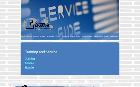 Screenshot of Support Page lintern.com - Training and Service   Lintern Corporation - captured Nov. 10, 2016