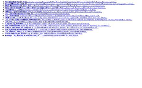 Screenshot of Blog dougwaltman.com captured Feb. 9, 2016