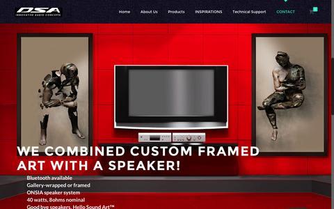 Screenshot of Home Page dsausa.com - Home - Dedicated Sound & AudioDedicated Sound &  Audio - captured Feb. 8, 2016
