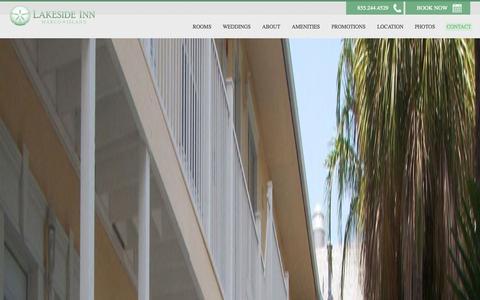 Screenshot of Contact Page marcoislandlakeside.com - Contact Us | Marco Island Lakeside Inn | 155 First Ave. - captured Nov. 2, 2014