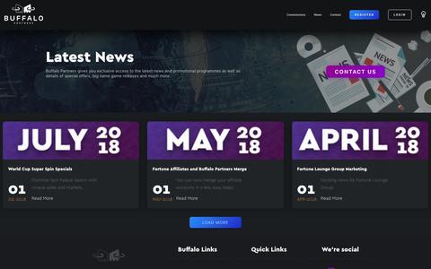 Screenshot of Press Page buffalopartners.com - Buffalo Partners - News - captured Sept. 9, 2018