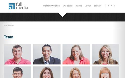 Screenshot of Team Page fullmedia.com - Meet Our Team | Full Media - captured Sept. 19, 2014