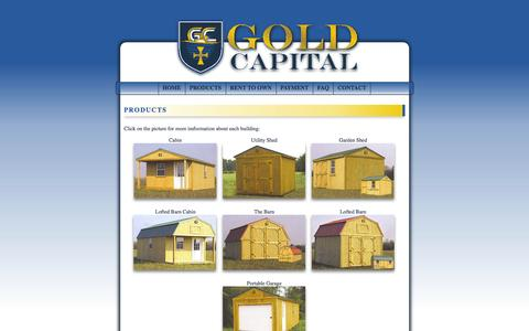 Screenshot of Products Page goldcapitalky.com - Gold Capital, LLC | Paducah, Kentucky - captured Sept. 16, 2014