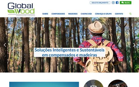 Screenshot of Home Page globalwood.com.br - GlobalWood - Compensados e Madeiras GlobalWood - captured Sept. 26, 2018